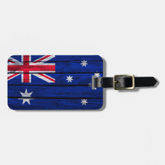 Rustikale Flagge von Australien Kofferanhänger