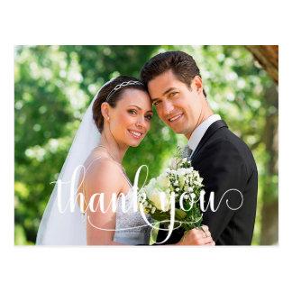 Rustikale Foto-Hochzeit danken Ihnen zu kardieren Postkarte