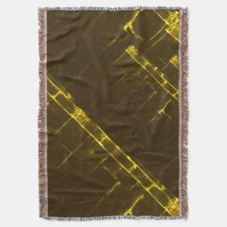 Rustikale gelbe geometrische Batik-Webart Browns Decke