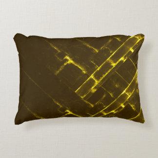 Rustikale gelbe geometrische Batik-Webart Browns Dekokissen