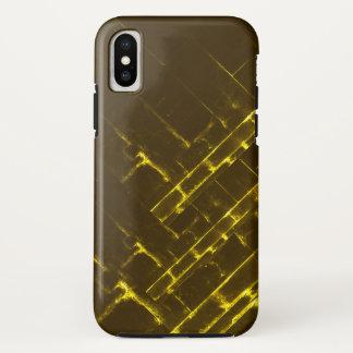 Rustikale gelbe geometrische Batik-Webart Browns iPhone X Hülle