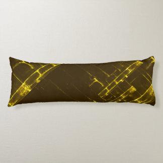 Rustikale gelbe geometrische Batik-Webart Browns Seitenschläferkissen