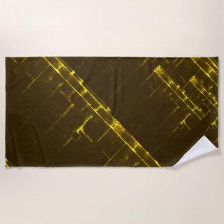 Rustikale gelbe geometrische Batik-Webart Browns Strandtuch