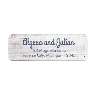 Rustikale helle hölzerne Adressen-Etiketten