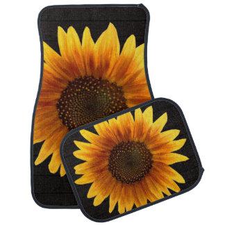 Rustikale Herbst-Sonnenblume Autofußmatte