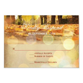 Rustikale Herbstlaub-Herbst-Hochzeit UAWG Karten Karte