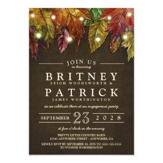Rustikale Herbstlaub-Verlobungs-Party Einladungen
