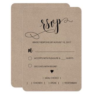 Rustikale Hochzeit UAWG Karte