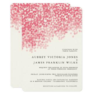 Rustikale Hochzeits-Einladungen der Rosey Karte