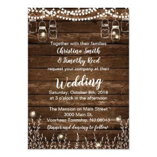 Rustikale Hochzeits-Einladungen - Land-Hochzeit Karte
