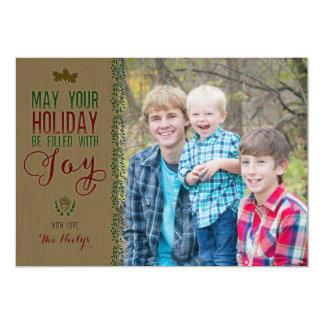 Rustikale Holz-Feiertags-Karte 12,7 X 17,8 Cm Einladungskarte