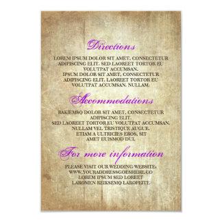 Rustikale hölzerne Hochzeits-Details - 8,9 X 12,7 Cm Einladungskarte