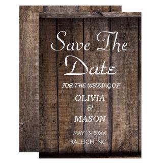 Rustikale hölzerne Palette, die Save the Date 8,9 X 12,7 Cm Einladungskarte