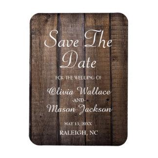Rustikale hölzerne Palette, die Save the Date Magnet
