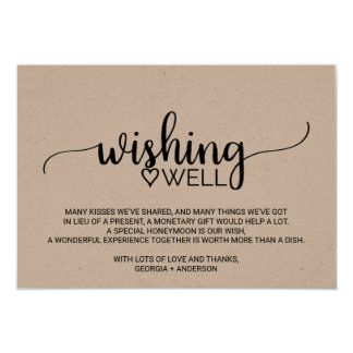 Rustikale Kraftpapier-Kalligraphie-Hochzeit, die 8,9 X 12,7 Cm Einladungskarte