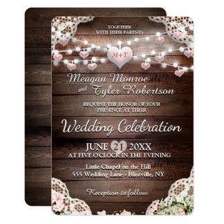 Rustikale Land-Hochzeit 12,7 X 17,8 Cm Einladungskarte