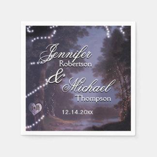 Rustikale Land-Hochzeit Papierserviette
