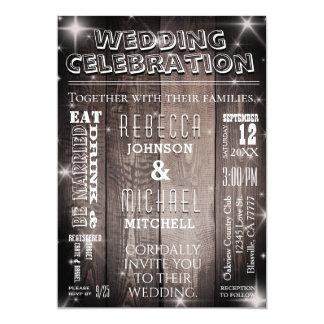 Rustikale Land-Hochzeits-Einladung Karte