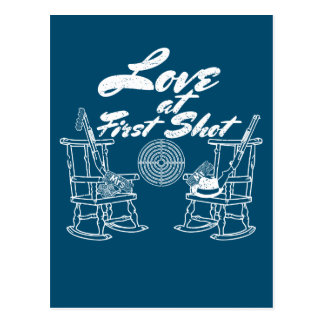 Rustikale Land-Scheunen-Hochzeits-Party-Jagd-Paare Postkarte