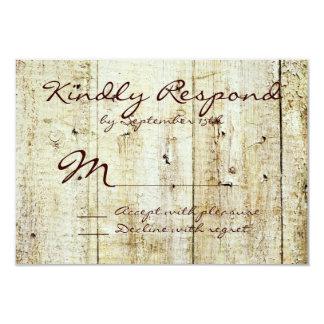 Rustikale Land-Scheunen-hölzerne Hochzeit UAWG 8,9 X 12,7 Cm Einladungskarte