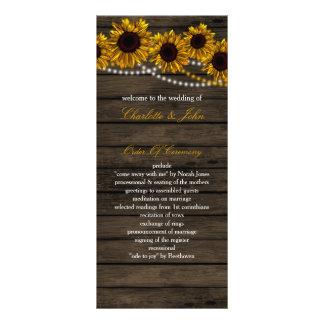 Rustikale Land-Sonnenblume-Scheunen-Holzprogramme Werbekarte