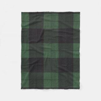 rustikale Landdecke der grünen schwarzen karierten Fleecedecke