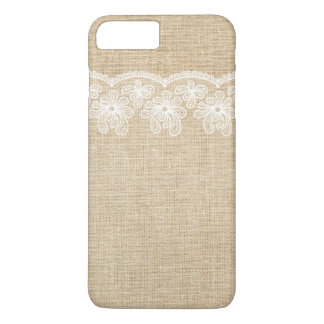 Rustikale Leinwand und Spitze-Braut iPhone 8 Plus/7 Plus Hülle