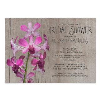 Rustikale Orchideen-Brautparty-Einladungen 12,7 X 17,8 Cm Einladungskarte