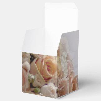 Rustikale Pfirsich-Rosen-weißer Hochzeits-Entwurf Geschenkschachtel