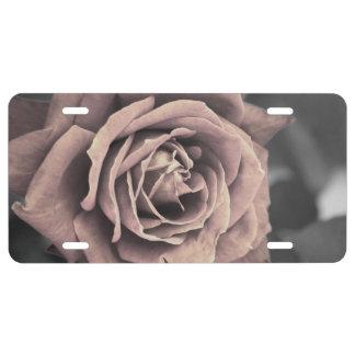 Rustikale rosa Rose US Nummernschild