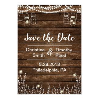 Rustikale Save the Date Karte für Land-Hochzeiten