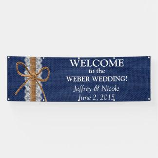 Rustikale Scheunen-Hochzeits-Leinwand-Hochzeit im Banner