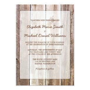 Rustikale Scheunen Hölzerne Hochzeits Einladungen Einladung