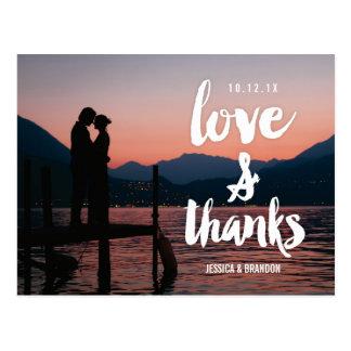 Rustikale schicke Hochzeit danken Ihnen Postkarten