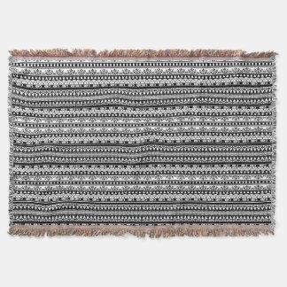 Rustikale schicke Schwarzweiss-Muster-Decke Decke