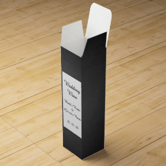Rustikale schwarze Tafel gedruckt Wein-Geschenkverpackung