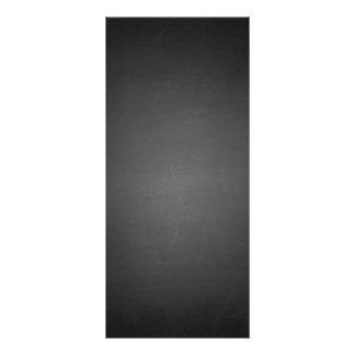 Rustikale schwarze Tafel gedruckt Werbekarte