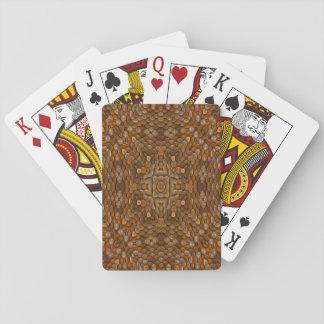 Rustikale Skala-bunte Spielkarten