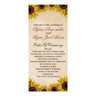 Rustikale Sonnenblume-Hochzeit Werbekarte