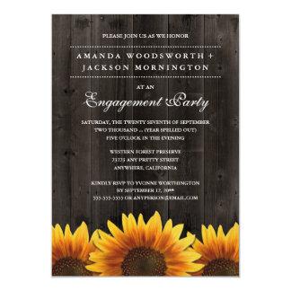 Rustikale Sonnenblume-Verlobungs-Party Einladungen