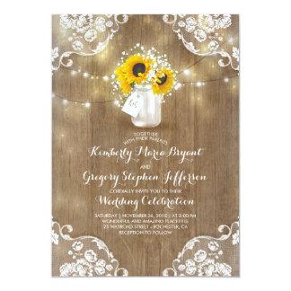 Rustikale Sonnenblumen und der Atem-Hochzeit im Karte