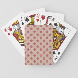 rustikale Spielkarte des roten