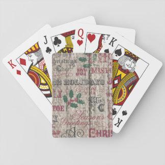 rustikale Spielkarten des WeihnachtsWinterurlaubs