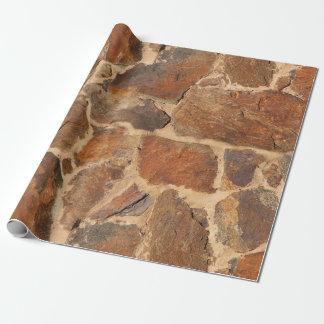 Rustikale Steinwand-Struktur-Geologie-Herzenswärme Geschenkpapier