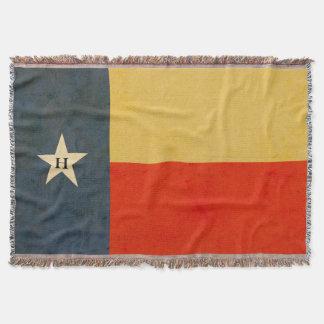 Rustikale Texas-Flaggepersonalisierte Throw-Decke Decke