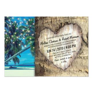 Rustikale tropische Strand-Hochzeit in Urlaubsort Karte