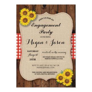 Rustikale Verlobungs-Party-Duschen-Sonnenblume 12,7 X 17,8 Cm Einladungskarte