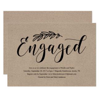 Rustikale Verlobungs-Party Einladung