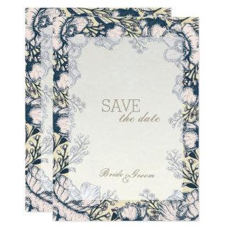 Rustikale Vintage Blume Blumenwedding Save the Karte