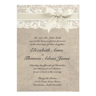 Rustikale Vintage inspirierte Hochzeits-Einladung